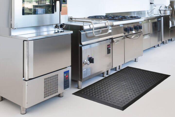 floor mat in an industrial kitchen