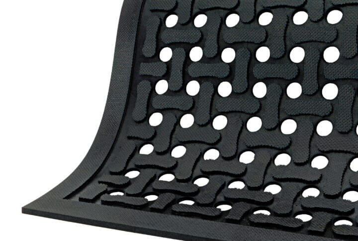 isolated image of a rubber floor mat