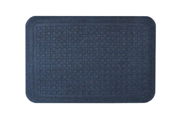 isolated image of an anti-fatigue mat in colbalt blue